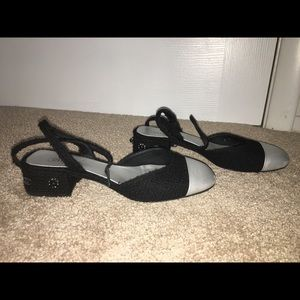 Chanel 39.5 ankle strap flats